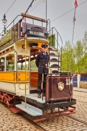 Conductor on the Walker Gate Tram